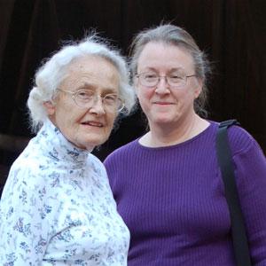 Jane Hesterman and Joan Knauss