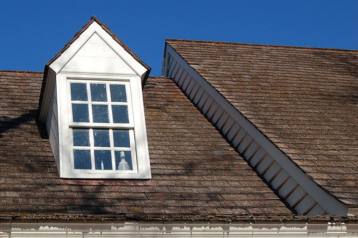 window dormer, Williamsburg, Virginia, December, 2011